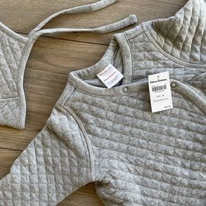 NEW! Hanna Andersson Quilted Sleeper & Hat Set